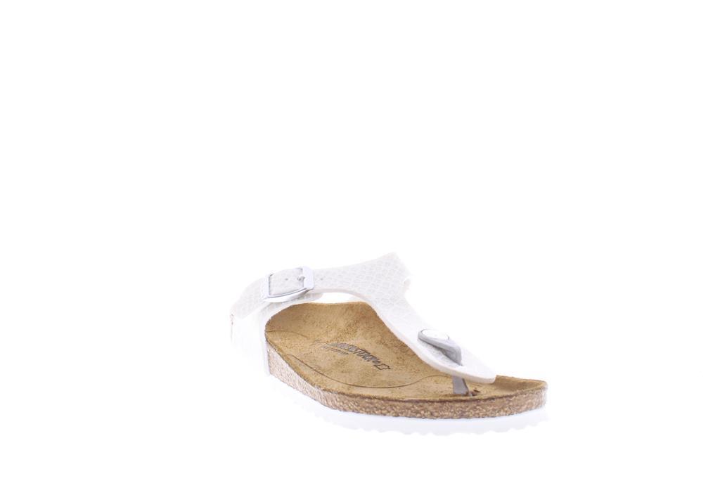 Wit Zilver Gizeh Magic Snake White narrow Birkenstock Slipper | 1008282