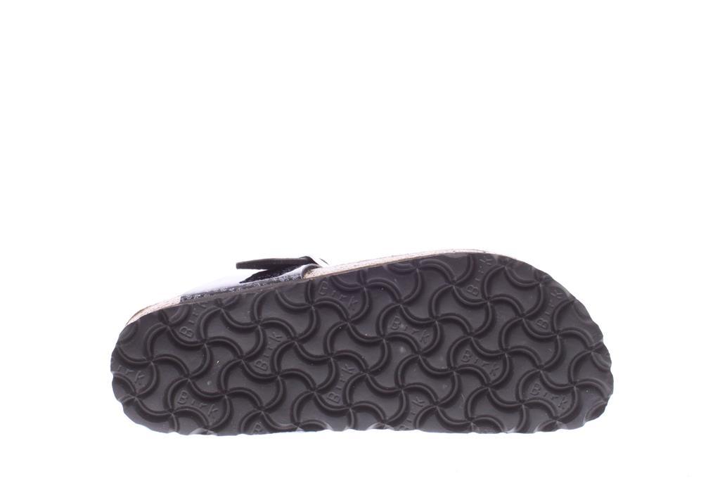 Zwart Snake Gizeh Magic Snake Black Silver Narrow Birkenstock Slipper | 1008204