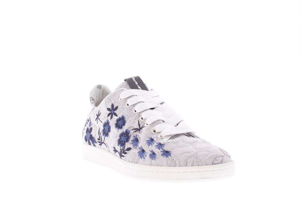 Zilver Opdruk Effect Floris van Bommel Sneaker   8523503