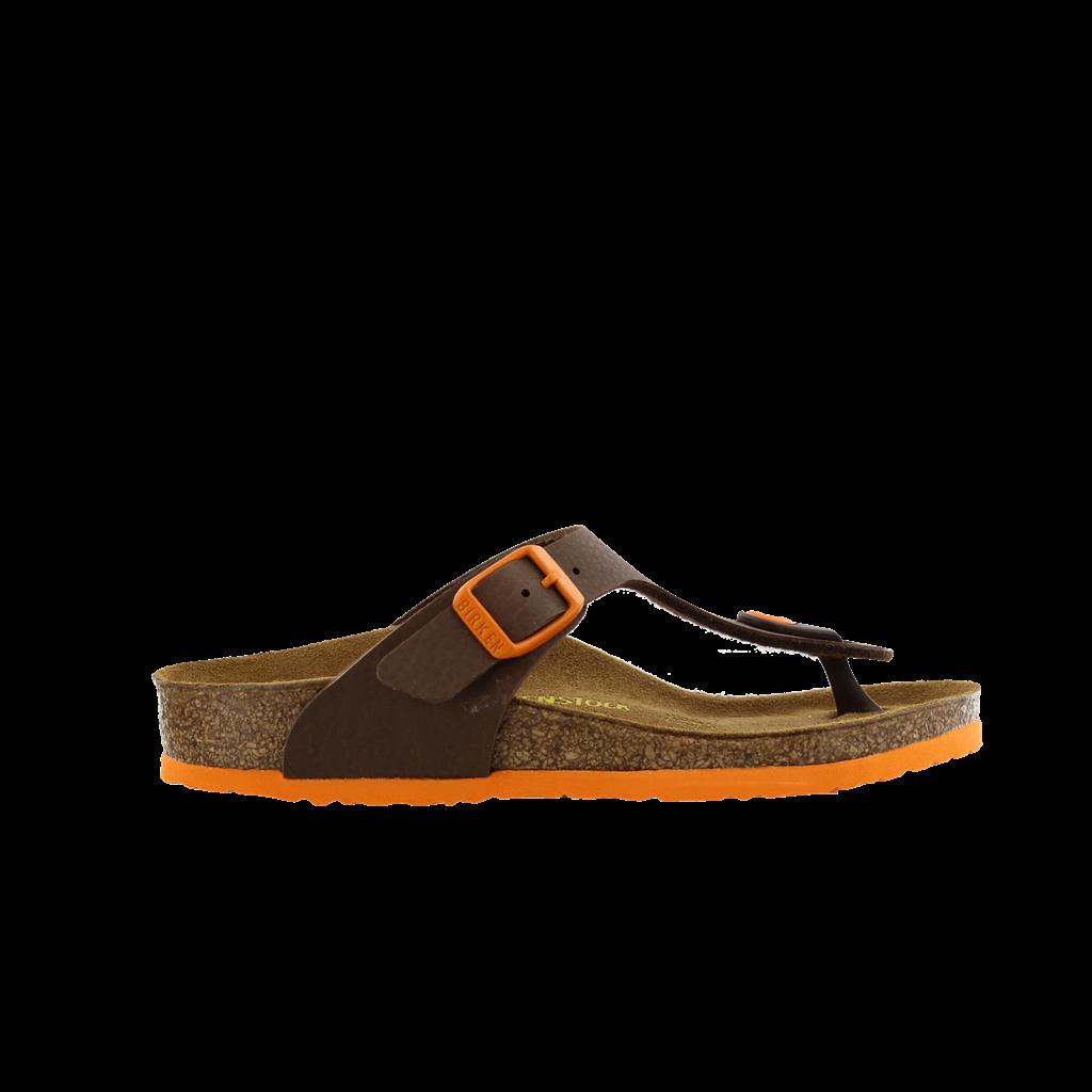 Bruin oranje gizeh birkenstock slipper 847843 van asperen schoenenspeciaalzaak - Kussen oranje en bruin ...